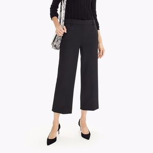 J Crew 365 Wide Leg Cropped High Waisted Pants